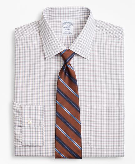 Regent Fitted Dress Shirt, Non-Iron Framed Windowpane