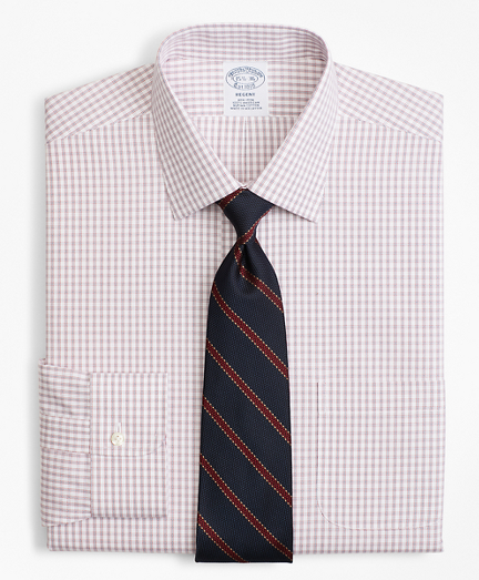 Regent Fitted Dress Shirt, Non-Iron Framed Windowpane
