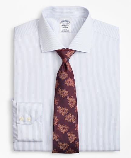 Regent Fitted Dress Shirt, Non-Iron Alternating Stripe