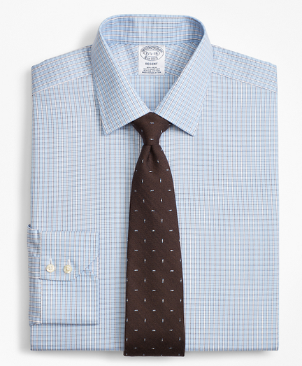 Regent Fitted Dress Shirt, Non-Iron Two-Tone Framed Windowpane