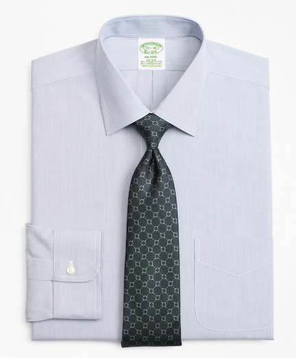 Stretch Milano Slim-Fit Dress Shirt, Non-Iron Hairline Stripe