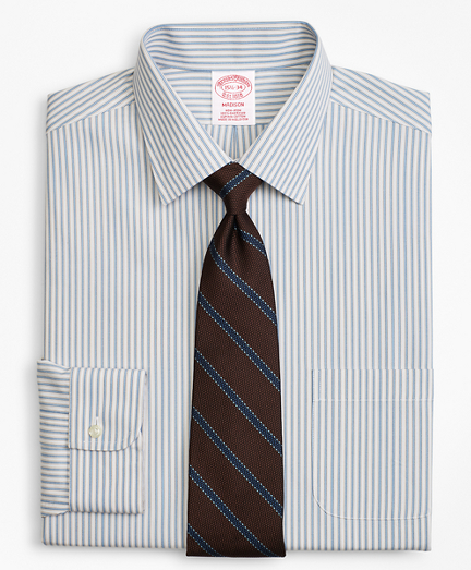 Madison Classic-Fit Dress Shirt, Non-Iron Framed Stripe