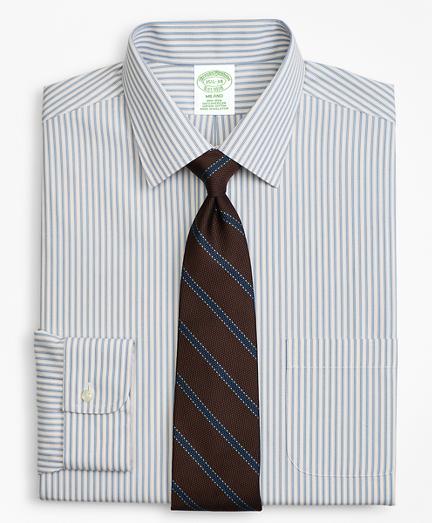 Milano Slim-Fit Dress Shirt, Non-Iron Framed Stripe