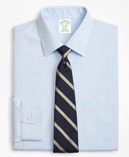 Milano Slim-Fit Dress Shirt, Non-Iron Triple Check