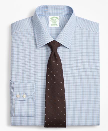 Milano Slim-Fit Dress Shirt, Non-Iron Two-Tone Framed Windowpane