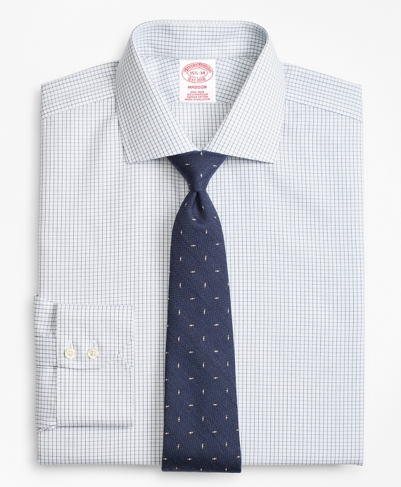 Madison Classic-Fit Dress Shirt, Non-Iron Windowpane Blue