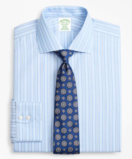Milano Slim-Fit Dress Shirt, Non-Iron Alternating Ground Stripe