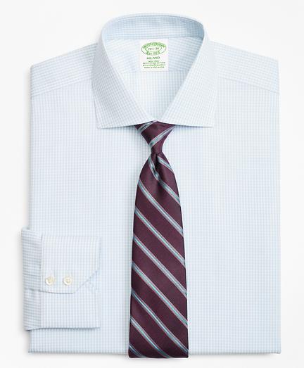 Stretch Milano Slim-Fit Dress Shirt, Non-Iron Royal Oxford Small Windowpane