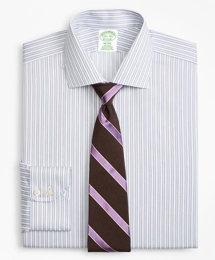 Milano Slim-Fit Dress Shirt, Non-Iron Hairline Framed Stripe