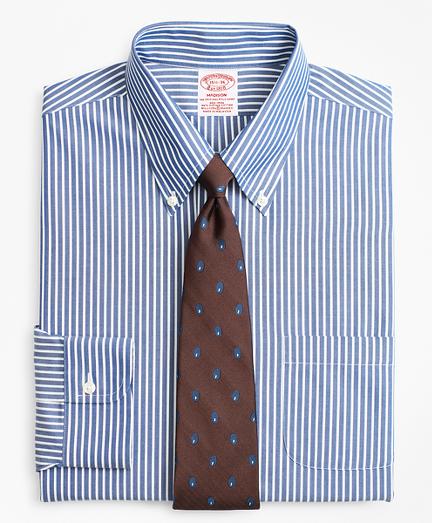Stretch Madison Classic-Fit Dress Shirt, Non-Iron Ground Stripe