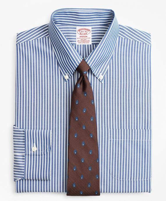 Stretch Madison Classic-Fit Dress Shirt, Non-Iron Ground Stripe   Brooks Brothers