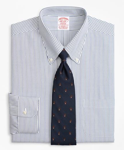 Stretch Madison Classic-Fit Dress Shirt, Non-Iron Pencil Stripe