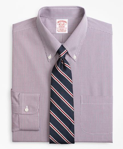 Stretch Madison Classic-Fit Dress Shirt, Non-Iron Micro-Check