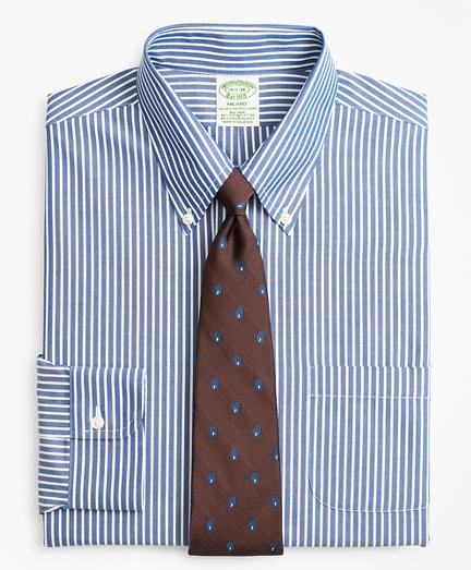 Stretch Milano Slim-Fit Dress Shirt, Non-Iron Ground Stripe