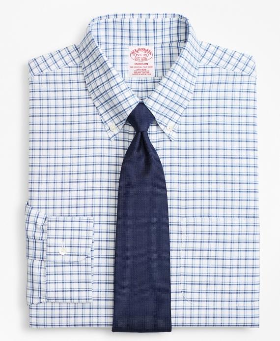 BrooksCool® Madison Classic-Fit Dress Shirt, Non-Iron Sidewheeler Windowpane Blue
