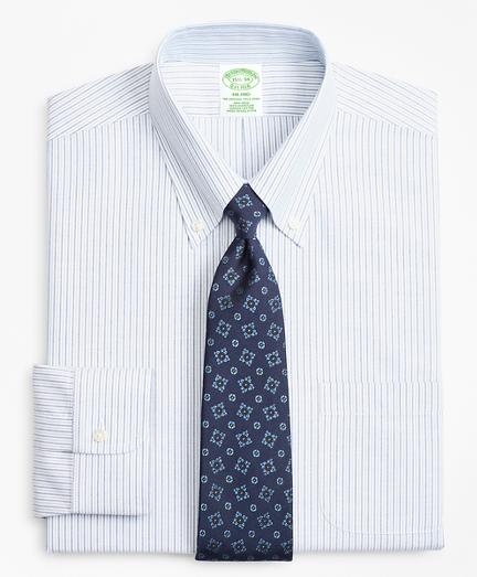 BrooksCool® Milano Slim-Fit Dress Shirt, Non-Iron Alternating Stripe