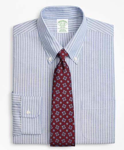 BrooksCool® Milano Slim-Fit Dress Shirt, Non-Iron Double Framed Stripe