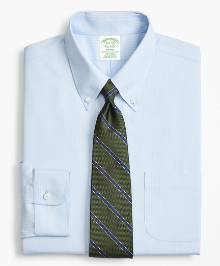 Milano Slim-Fit Dress Shirt, Non-Iron Tonal Ground Stripe
