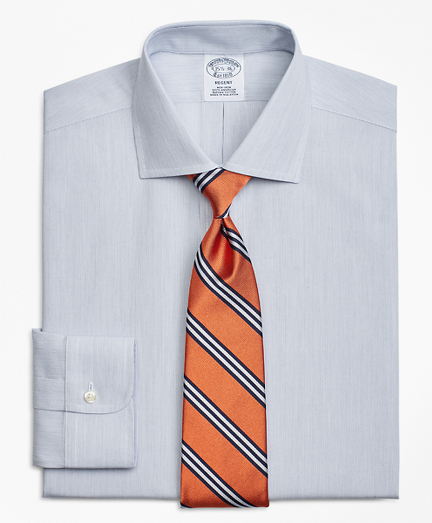 Regent Fitted Dress Shirt, Non-Iron Pencil Stripe