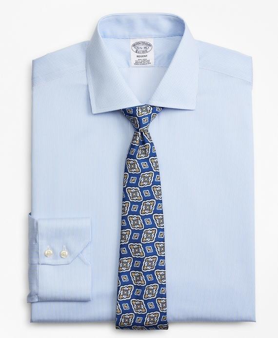 Regent Fitted Dress Shirt, Non-Iron Stripe Blue