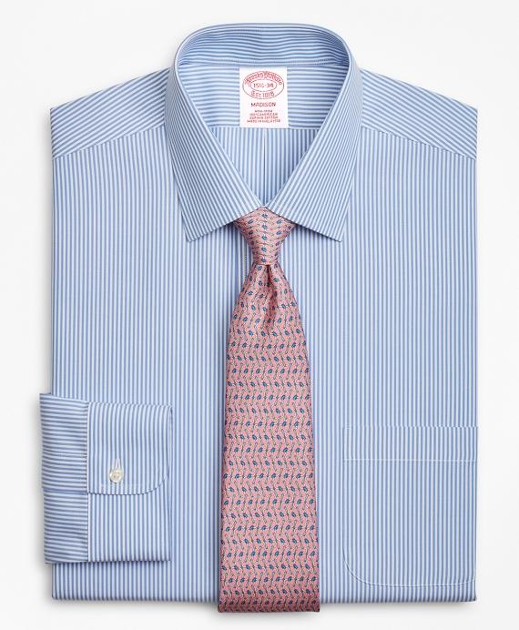 Madison Classic-Fit Dress Shirt, Non-Iron Stripe Blue