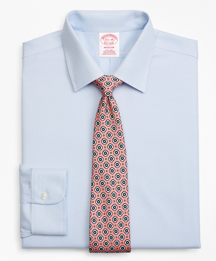 Madison Classic-Fit Dress Shirt, Non-Iron Dobby Micro-Dot