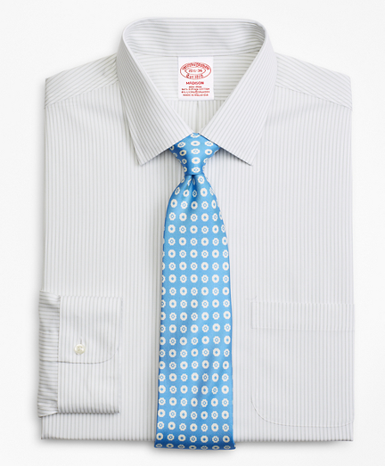 Stretch Madison Classic-Fit Dress Shirt, Non-Iron Stripe