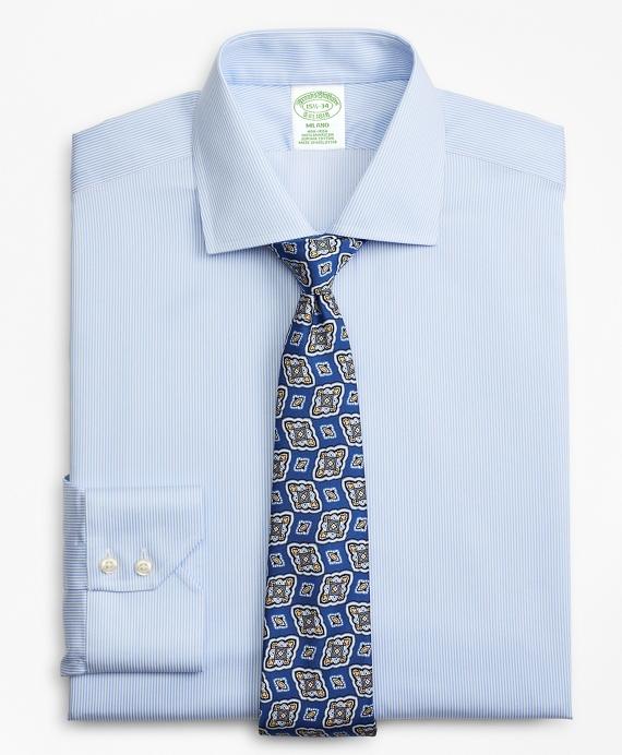 Milano Slim-Fit Dress Shirt, Non-Iron Stripe Blue
