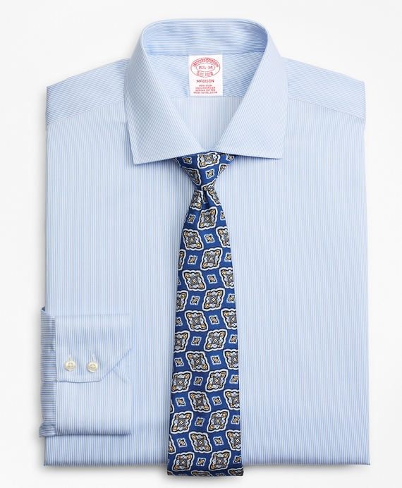 Madison Classic-Fit Dress Shirt, Non-Iron Stripe Blue