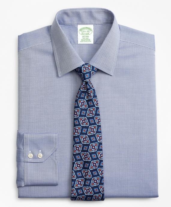 Milano Slim-Fit Dress Shirt, Non-Iron Check Navy