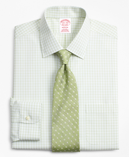 Madison Classic-Fit Dress Shirt, Non-Iron Check