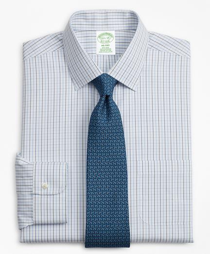 Milano Slim-Fit Dress Shirt, Non-Iron Grid Check