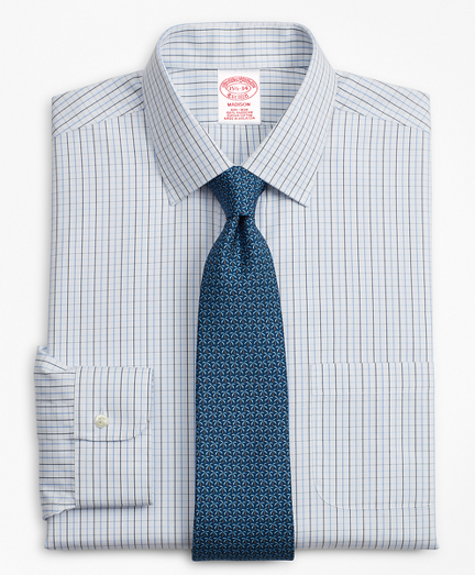 Madison Classic-Fit Dress Shirt, Non-Iron Grid Check