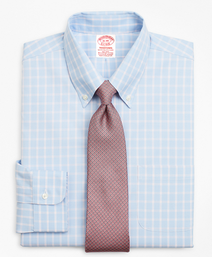 Stretch Traditional Relaxed-Fit, Non-Iron Windowpane