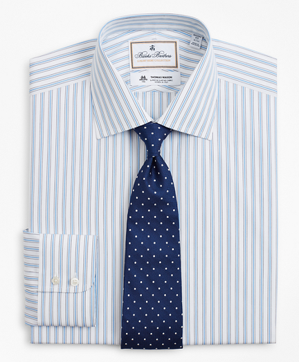Luxury Collection Regent Fitted Dress Shirt, Franklin Spread Collar Outline Stripe