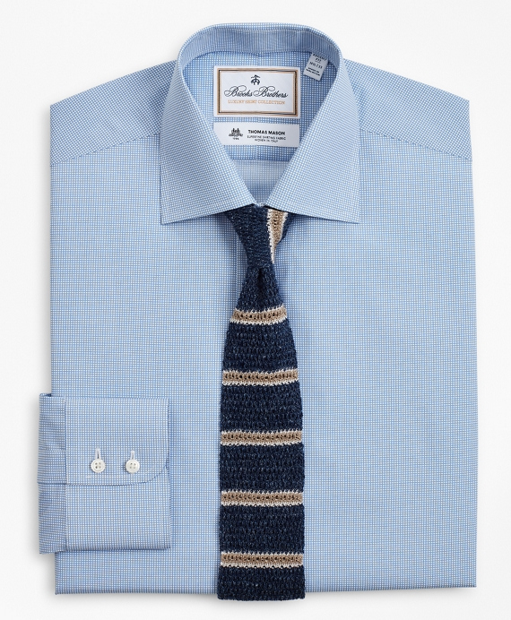 Luxury Collection Regent Fitted Dress Shirt, Franklin Spread Collar Dot Light Blue