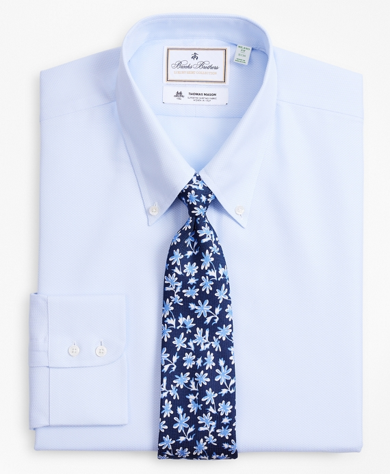 Luxury Collection Milano Slim-Fit Dress Shirt, Button-Down Collar Dobby Links Light Blue