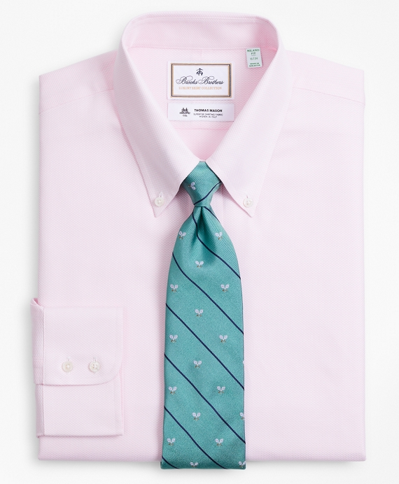 Luxury Collection Milano Slim-Fit Dress Shirt, Button-Down Collar Dobby Links Pink