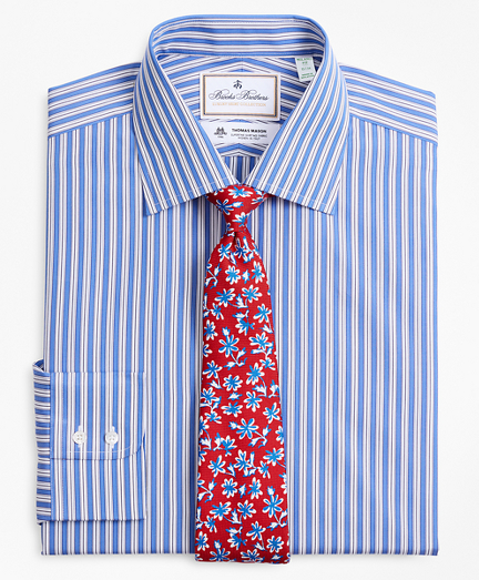 Luxury Collection Milano Slim-Fit Dress Shirt, Franklin Spread Collar Outline Stripe