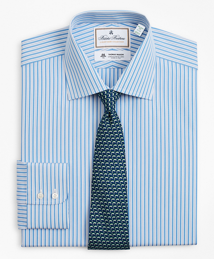 Luxury Collection Milano Slim-Fit Dress Shirt, Franklin Spread Collar Pinstripe