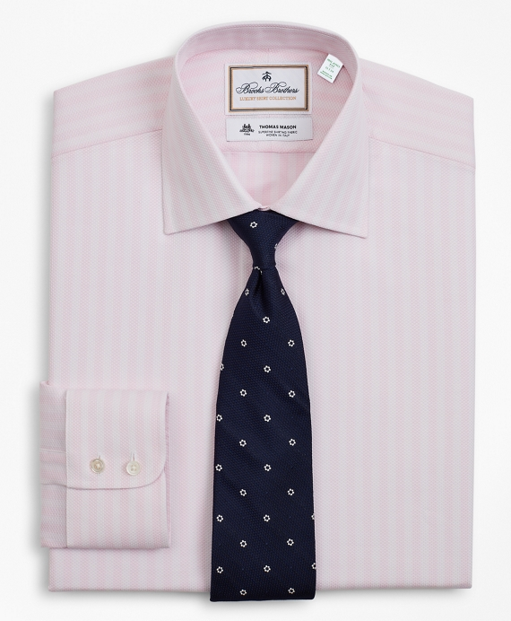 Luxury Collection Milano Slim-Fit Dress Shirt, Franklin Spread Collar Stripe Pink