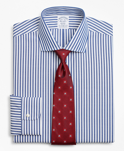 Stretch Regent Fitted Dress Shirt, Non-Iron Bengal Stripe