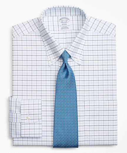 BrooksCool® Regent Fitted Dress Shirt, Non-Iron Windowpane