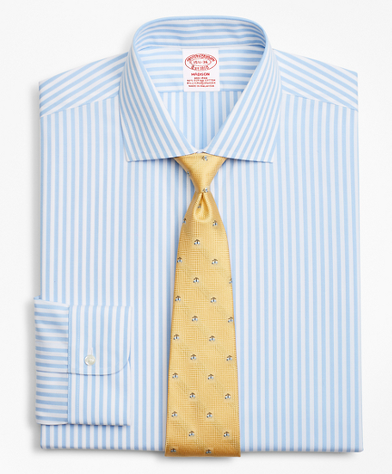 Stretch Madison Classic-Fit Dress Shirt, Non-Iron Bengal Stripe