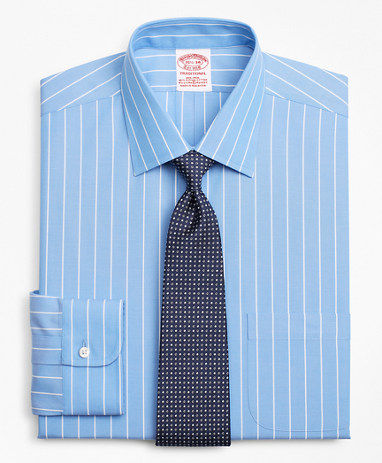 Stretch Traditional Relaxed-Fit Dress Shirt, Non-Iron Stripe