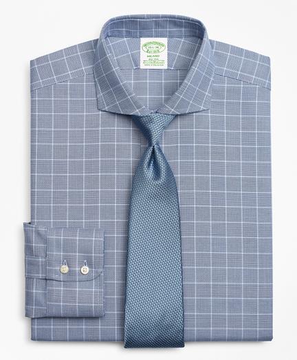 Stretch Milano Slim-Fit Dress Shirt, Non-Iron Royal Oxford Glen Plaid