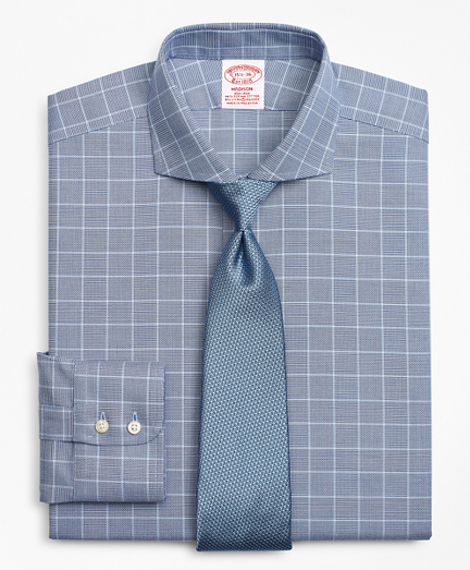 Stretch Madison Classic-Fit Dress Shirt, Non-Iron Royal Oxford Glen Plaid