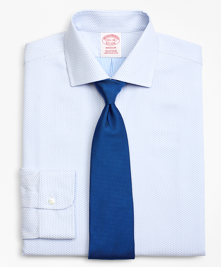 Madison Classic-Fit Dress Shirt, Non-Iron Dobby Diamond