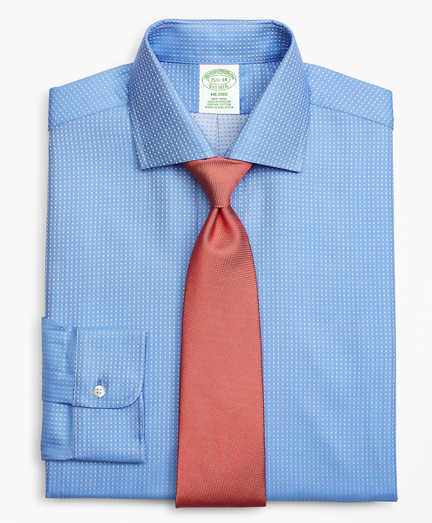 Milano Slim-Fit Dress Shirt, Non-Iron Dobby Dot