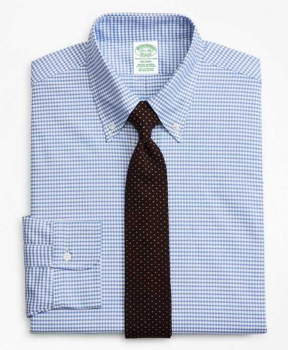 Original Polo® Button-Down Oxford Milano Slim-Fit Dress Shirt, Gingham Blue